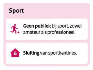 geen publiek bij sport